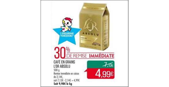 Bon Plan Café Grains L'Or Absolu chez Match - anti-crise.fr