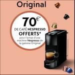 Offre de Remboursement Nespresso : 70€ Remboursés sur Machine Nespresso System - anti-crise.fr
