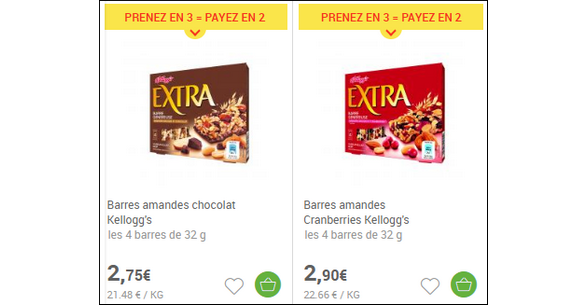 Bon Plan Barres Kellogg's Extra chez Carrefour Market - anti-crise.fr