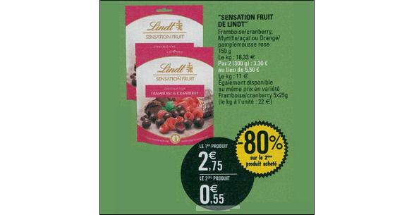 Bon Plan Sensation Fruit Lindt chez Leclerc - anti-crise.fr