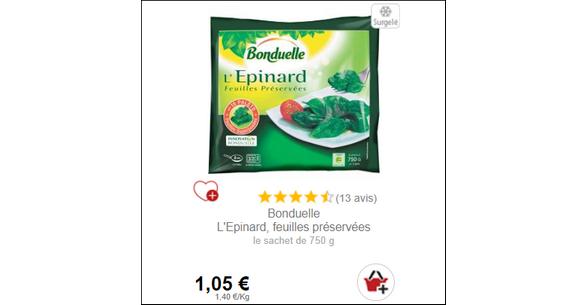 Bon Plan L'Epinard Bonduelle - anti-crise.fr