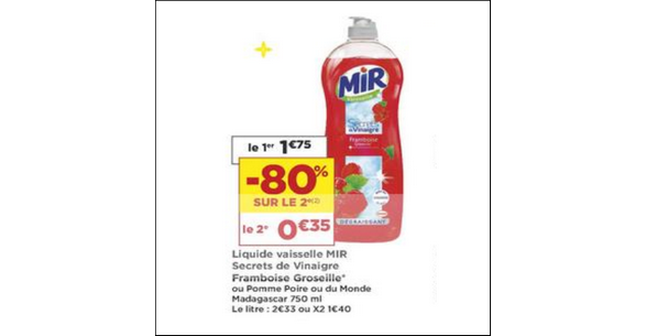 Bon Plan Liquide Vaisselle Mir chez Casino - anti-crise.fr