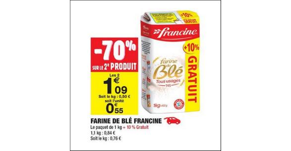 Bon Plan Farine Francine chez Carrefour Market - anti-crise.fr