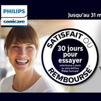 Offre de Remboursement Philips : Brosse à Dents ou AirFloss Sonicare Satisfait ou 100% Remboursé