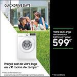 Offre de Remboursement Samsung : Jusqu'à 150€ Remboursés sur Lave-Linge QuickDrive - anti-crise.fr