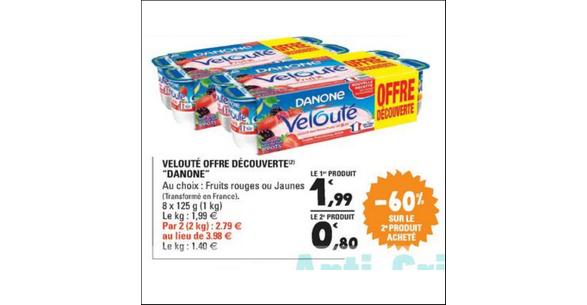 Bon Plan Yaourts Velouté Fruix chez Leclerc - anti-crise.fr