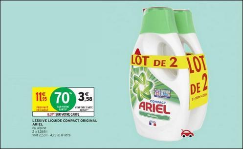 Bon Plan Lessive Ariel Liquide chez Intermarché - anti-crise.fr