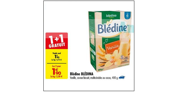 Bon Plan Blédine de Blédina chez Carrefour (25/09 - 08/10) - anti-crise.fr