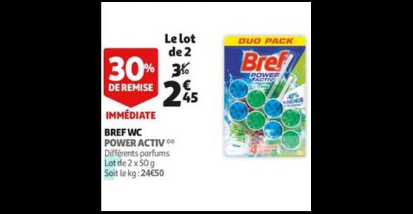 Bon Plan Bloc Bref WC chez Auchan (12/09 - 18/09) - anti-crise.fr