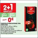 Bon Plan Tablette de Chocolat Noir Côte D'Or chez Leader Price (25/09 - 07/10) - anti-crise.fr