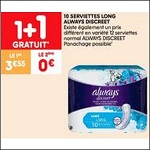 Bon Plan Serviettes Always Discreet chez Leader Price (02/10 - 14/10) - anti-crise.fr