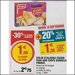 Bon Plan Bâtonnets Fish & Chips Findus chez Magasins U le 18/09 - anti-crise.fr