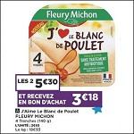 Bon Plan Blanc de Poulet Fleury Michon chez Casino (18/09 - 28/09) - anti-crise.fr