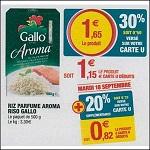 Bon Plan Riz Parfumé Riso Gallo Aroma chez Magasins U le 18/09 - anti-crise.fr