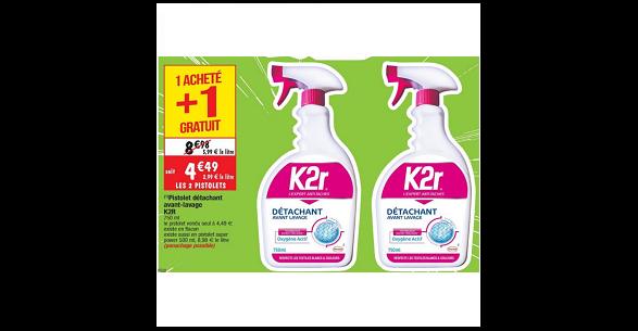 Bon Plan Spray Détachant K2R chez Cora (11/09 - 17/09) - anti-crise.fr