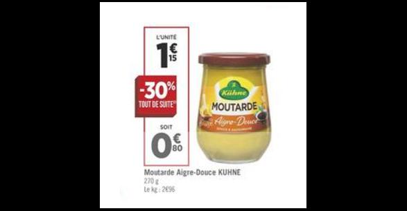 Bon Plan Moutarde Kühne chez Géant Casino (04/09 - 16/09) -anti-crise.Fr