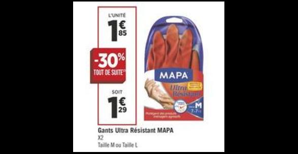 Bon Plan Gants Mapa chez Géant Casino (04/09 - 16/09) -anti-crise.fr