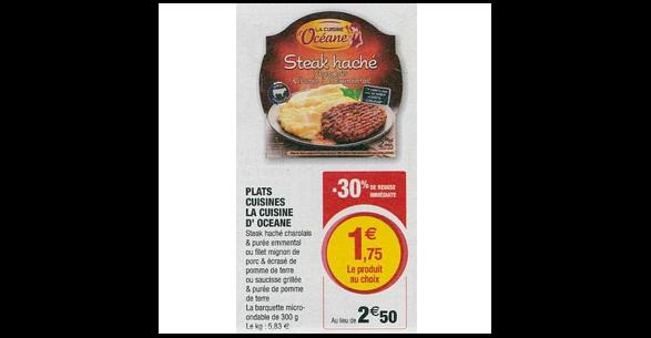Bon Plan Plat Cuisiné la Cuisine d'Océane chez Magasins U (04/09 - 15/09) - anti-crise.Fr