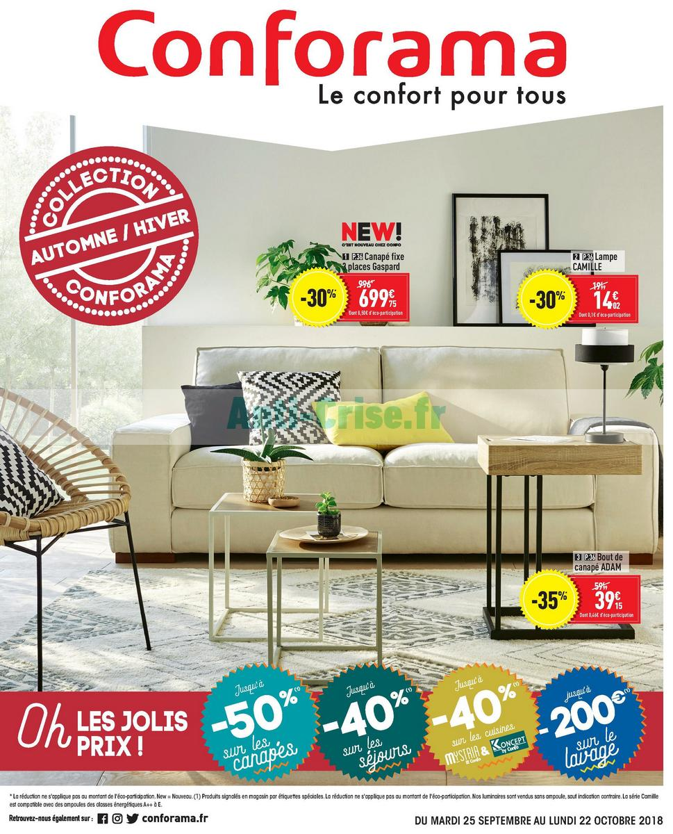 Catalogue Conforama du 25 septembre au 22 octobre 2018 ...
