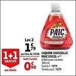 Bon Plan Liquide Vaisselle Paic chez Auchan (19/09 - 25/09) - anti-crise.Fr