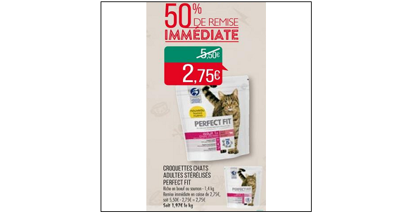 Bon Plan Croquettes pour Chat Perfect Fit chez Match (04/09 - 16/09) - anti-crise.fr