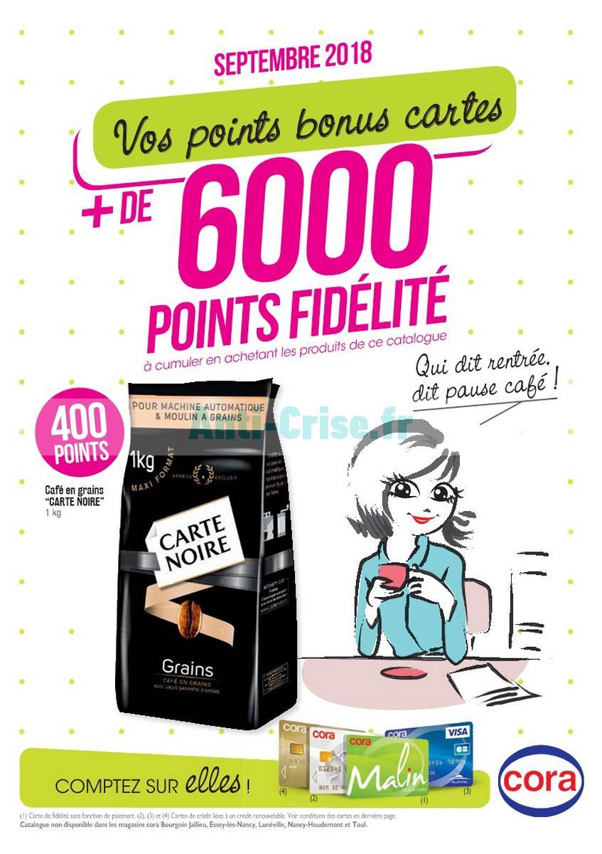 Cora Carte De Fidelite.Catalogue Cora Du 1er Au 30 Septembre 2018 Fidelite