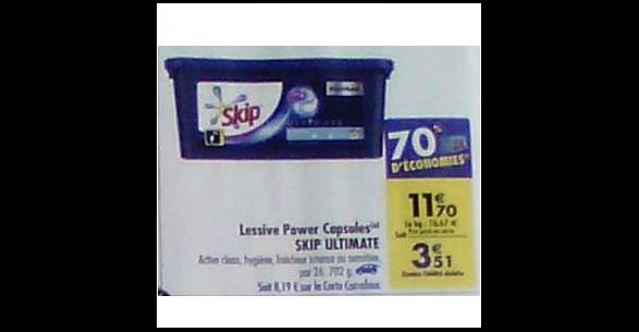 Bon Plan Lessive Skip Ultimate 3en1 chez Carrefour (25/09 - 01/10) - anti-crise.fr
