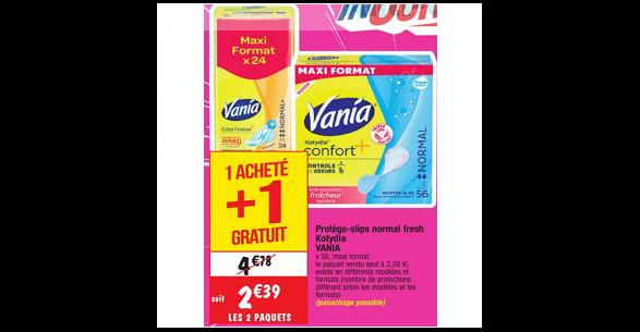 Bon Plan Protèges-Slip Vania Kotydia chez Cora (18/09 - 24/09) - anti-crise.Fr
