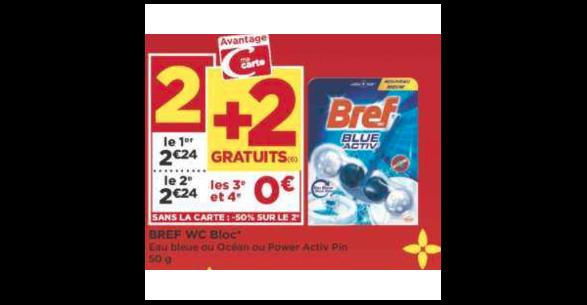 Bon Plan Bloc Bref WC chez Géant Casino (16/10 - 28/10) - anti-crise.fr