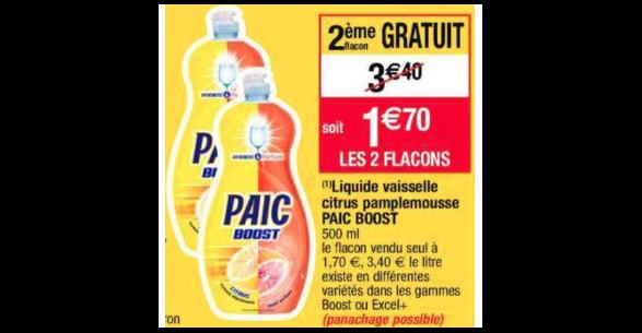 Bon Plan Liquide Vaisselle Paic chez Cora (30/10 - 05/11) - anti-crise.fr