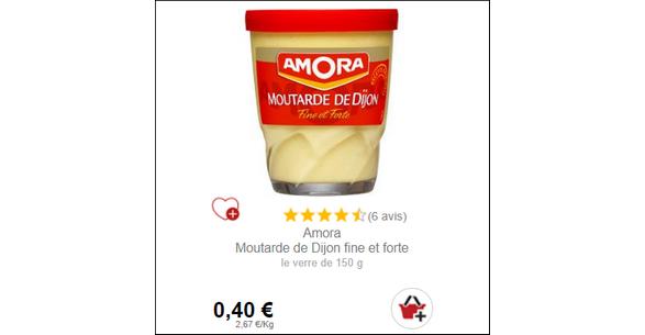 Bon Plan Moutarde Amora - anti-crise.fr