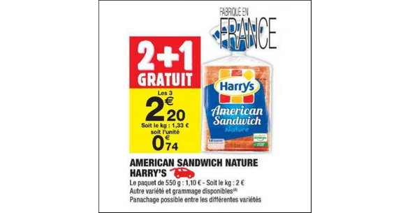 Bon Plan American Sandwich Harrys chez Carrefour Market - anti-crise.fr