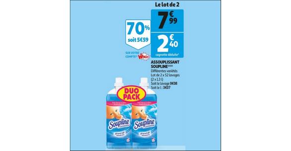 Bon Plan Assouplissant Soupline chez Auchan - anti-crise.fr