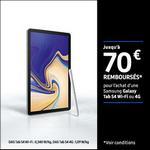 Offre de Remboursement Samsung : Jusqu'à 70€ Remboursés sur Galaxy Tab S4 Wifi ou 4G - anti-crise.fr
