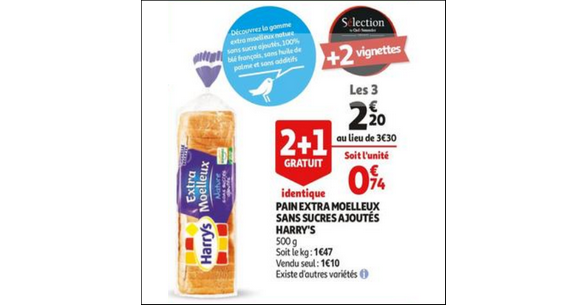 Bon Plan Pain de Mie Harrys chez Auchan - anti-crise.fr