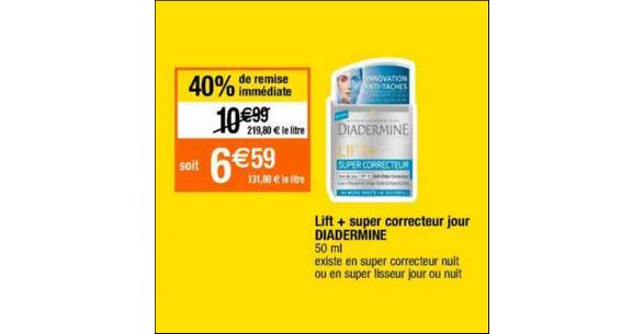 Bon Plan Soin Lift+ de Diadermine chez Cora - anti-crise.fr