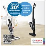 Offre de Remboursement Bosch : Jusqu'à 30€ Remboursés sur Aspirateur Balai - anti-crise.fr