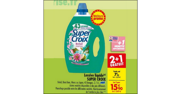 Bon Plan Lessive Super Croix chez Carrefour - anti-crise.fr