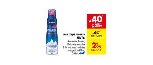 Bon Plan Mousse Hydratante Nivéa chez Carrefour - anti-crise.fr