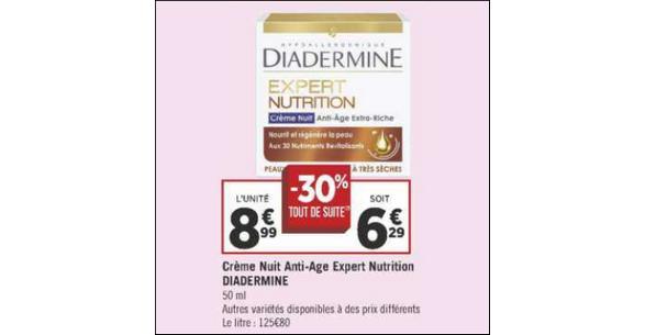 Bon Plan Crème Diadermine Expert chez Géant Casino - anti-crise.fr