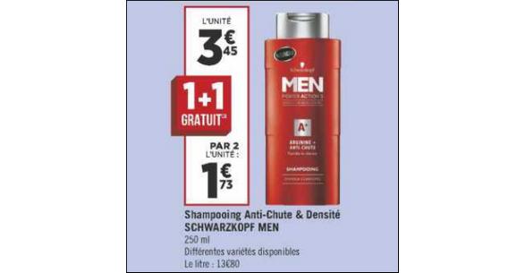 Bon Plan Shampooing Men Schwarzkopf chez Géant Casino - anti-crise.fr