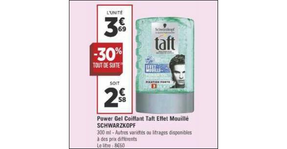 Bon Plan Gel Coiffant Taft chez Géant Casino - anti-crise.fr
