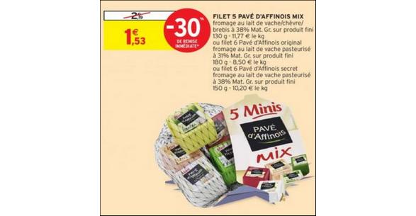 Bon Plan Filet Pavé d'Affinois chez Intermarché - anti-crise.fr