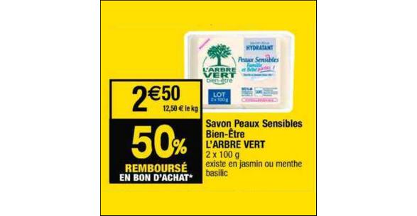 Bon Plan Savon L'Arbre Vert chez Cora - anti-crise.fr