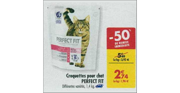 Bon Plan Croquettes pour Chat Perfect Fit chez Carrefour
