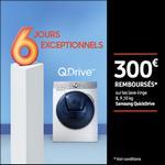 Offre de Remboursement Samsung : 300€ Remboursés sur Lave-Linge ou Lavante-Séchante QuickDrive - anti-crise.fr
