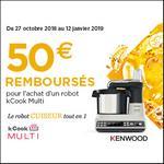 Offre de Remboursement Kenwood : 50€ Remboursés sur Kcook Multi - anti-crise.fr