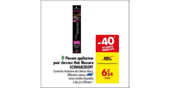 Bon Plan Hair Mascara Schwarzkopf chez Carrefour - anti-crise.fr