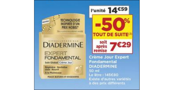 Bon Plan Crème Diadermine Expert chez Casino