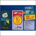 Bon Plan Capsules de Café Carte Noire Compatibles Nespresso chez Magasins U (02/11 - 03/11) - anti-crise.fr